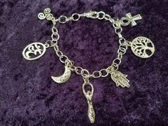 Pagan / fantasy charm bracelet