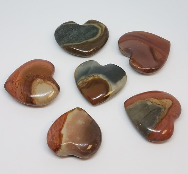 Polychrome Jasper Hearts