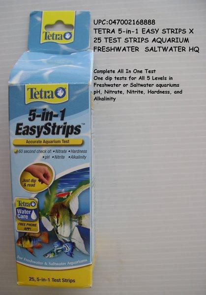 tetra 5 in 1 easy strips x 25 test strips aquarium freshwater s eatfish97landoflures. Black Bedroom Furniture Sets. Home Design Ideas