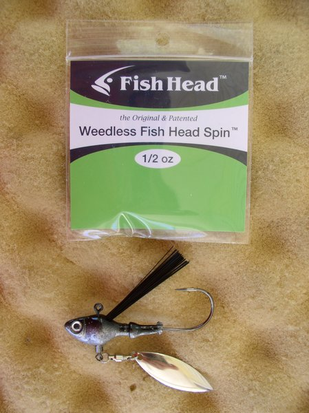 Spinner baits sworming hornet fish head spin weedless for Fish head spin