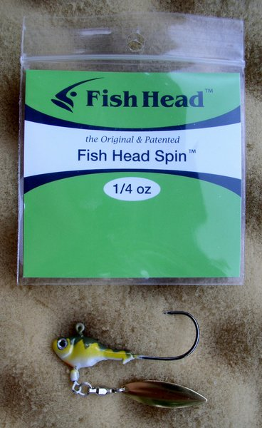 Fish head spin jig heads rig for plastic fishing baits for Fish head spin