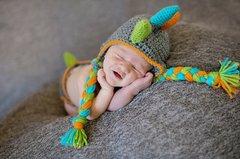 Crocheted Handmade Dinosaur 2 Piece Set For Baby