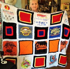 Handmade T-Shirt Quilted/Afghan Blanket