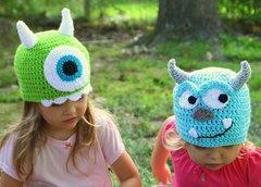 Monster Inc. Handmade Crocheted Hats For All Sizes