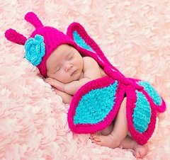 Crocheted Handmade Butterfly 2 Piece Set for Baby