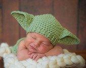 Crocheted handmade Star Wars YODA 2 piece set for baby