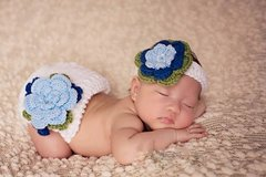 "Crocheted Handmade ""Design Your Own"" 2 Piece Baby Set"