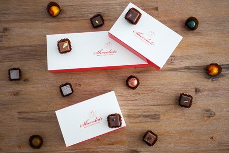 Signature carton of assorted handcrafted chocolates 8,16 & 32 pieces available