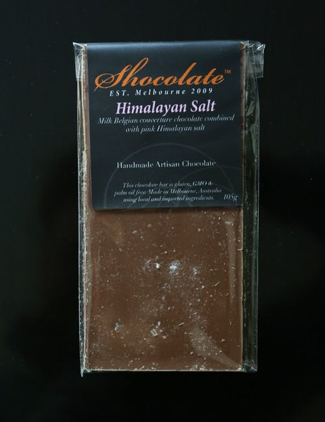 Milk Himalayan Salt Couverture Chocolate Bar