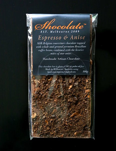 Milk Espresso & Star Anise Couverture Bar