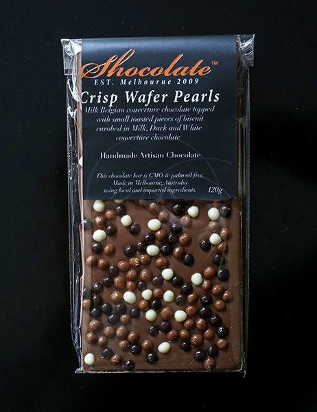 Milk Couverture Chocolate Bar With Crisp Wafer Pearls