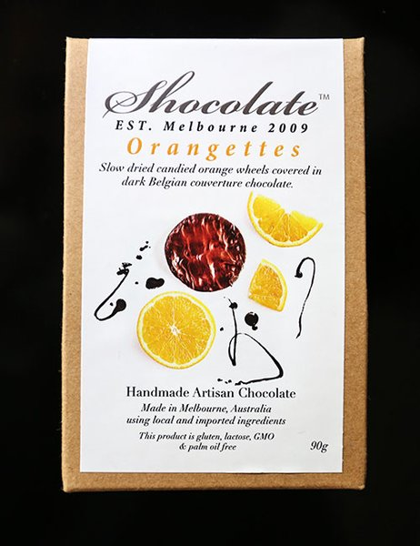 Orangettes- Slow Dried Orange Wheels in Dark Couverture Chocolate