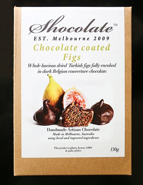 Whole Turkish Figs Enrobed In Dark Couverture Chocolate