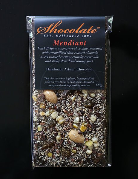 Dark Mendiant Couverture Chocolate Bar