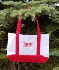 Boat Tote Embroidered Red White