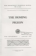 (1945) Technical Manual 11-410: The Homing Pigeon