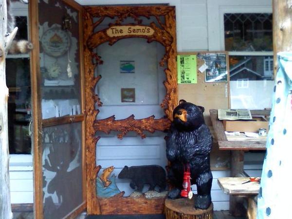 Custom Carved Screen Door Otter Lake Rustics Adirondack
