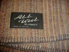 Handwoven Brushed Wool Irish Blanket