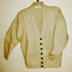 Gent's Aran Wool Cardigan - Patricia Kenny of Galway
