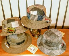Donegal Irish Tweed Patchwork Hat - by Hanna Hats of Donegal