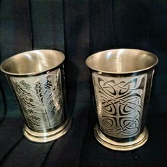 English Pewter Whisky Beakers
