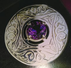 Celtic Brooch with Amethyst - Carrick of Scotland