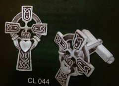 Sterling Silver Irish Claddagh Cuff Links by PS International