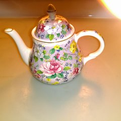 Ainsley Floral Pattern English China Teapot - Arthur Wood & Son