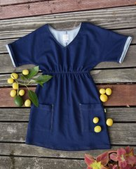 Denim Knit Raglan Sleeve Dress