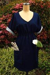 Denim Knit Raglan Sleeve Dress