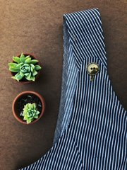 Striped Denim Japanese Style Apron