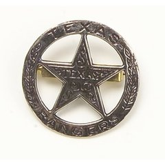 Old West Denix Replica Circular Texas Ranger's Badge– Antiqued Silver Finish