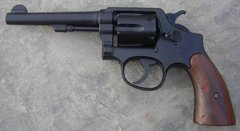 """S&W 5"""" Barrel Military & Police Revolver British Lend Lease .38 Special"""
