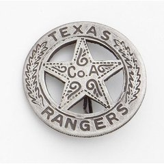 Old West Denix Replica Silver Texas Ranger's Badge– Antiqued Silver Finish