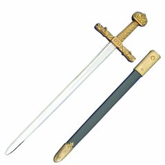 Medieval Gold Trim Charlemagne Letter Opener With Scabbard