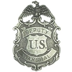 Deputy United States Marshal Eagle Badge by Denix - Antique Nickle Finish
