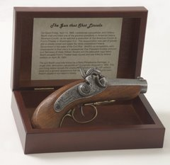 Civil War Lincoln Assassination Replica Baby Derringer Pistol Box Set