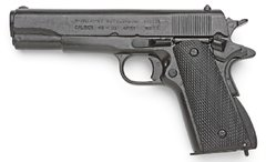 M1911 .45 Caliber Government Automatic Choose between Black, Nickle or Wood Grips