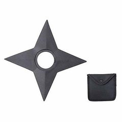 "Martial Arts NINJA Warrior 5"" Throwing Rubber STAR with Sheath LARP Cosplay"