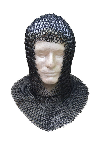 Medieval Knights Butted Steel Chain Mail Armor Coif ...