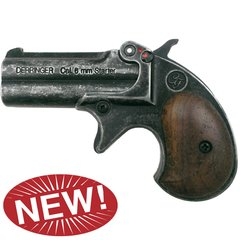 Old West Replica .22 Caliber Blank Firing Double Barrel Derringer Antique Finish