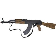 AK-47 Style 8 Shot Cap Assault Gun Rifle - Black Finish by Gonher Spain