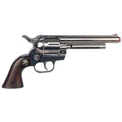 Cowboy Style 12 Shot Cap Diecast Revolver - Chrome