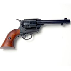 "Old West Denix Replica 1873 Western Frontier Black Finish 5.5"" Barrel with Wood Grips, Fires Caps"