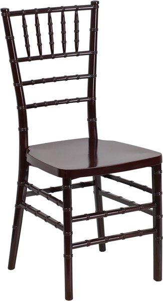 05. Resin Chiavari Chair Mahogany Frame