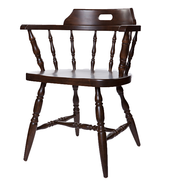 Captain s arm chair wood frame or upholstered seat