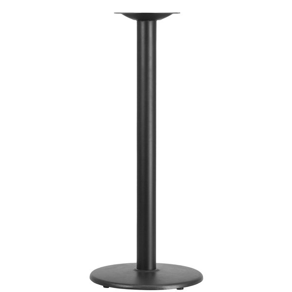 "Cast Iron Table Base with 3"" Column and Round Bottom"