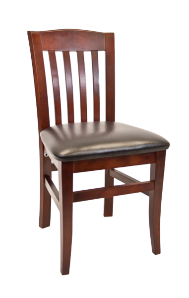 09. Wood Bulldog Back Restaurant Dining Chair