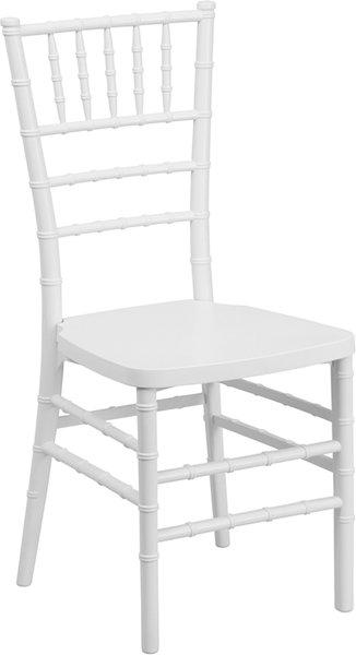 03. Resin Chiavari Chair White Frame