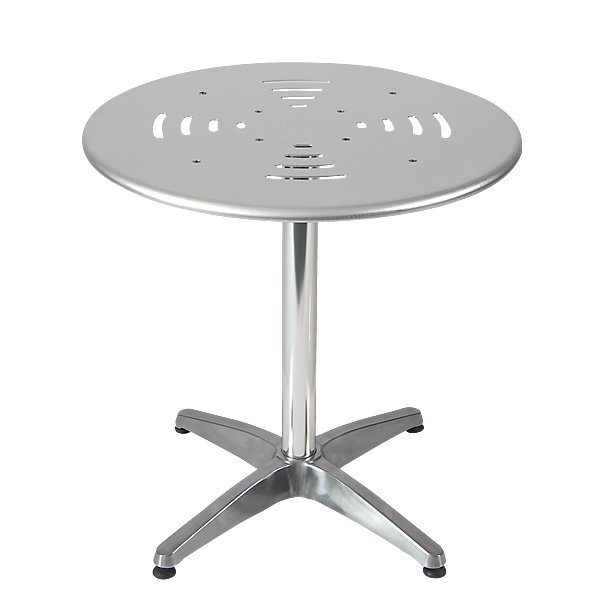 Outdoor Restaurant Cafe Aluminum Table Top with Chrome Base